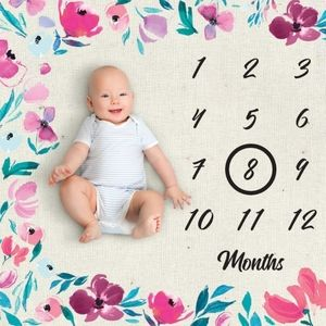 New Baby Milestone Blanket First Year Months NIP